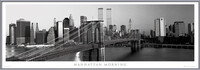 Manhattan - morning b&w Uokvireni plakat