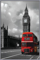 London red bus Uokvireni plakat