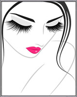 Lash extension beauty icon Uokvireni plakat