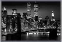 Manhattan - Night Uokvireni plakat