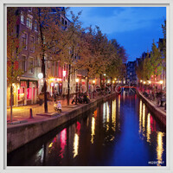 Red Light District in Amsterdam Uokvireni plakat