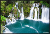 Waterfalls of Martin Brod on Una national park, Bosnia and Herzegovina Uokvireni plakat