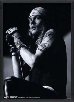 Uokvireni plakat Guns N Roses (Axl Rose) - Middletown, New York, August 1988
