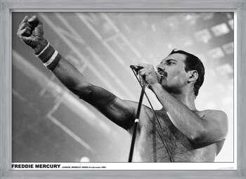 Uokvireni plakat Freddie Mercury - Wembley 1984