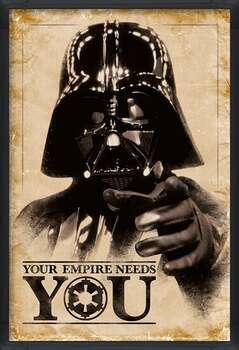 Uokvireni plakat Star Wars - Your Empire Needs You