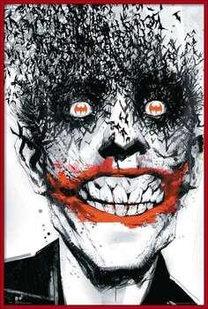 Uokvireni plakat BATMAN Comic - Joker Bats