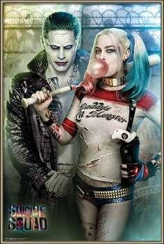Uokvireni plakat Suicide Squad - Joker and Harley Quinn