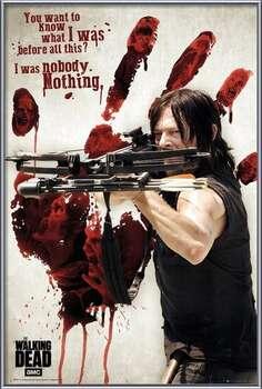 Uokvireni plakat Walking Dead - Bloody Hand Daryl