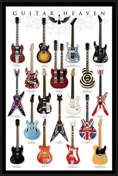Uokvireni plakat Guitar heaven