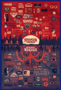 Uokvireni plakat Stranger Things - The Upside Down