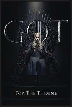 Uokvireni plakat Game Of Thrones - Daenerys For The Throne