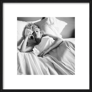 Uokvireni plakat Marilyn Monroe - Bed