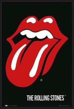 Uokvireni plakat the Rolling Stones - Lips