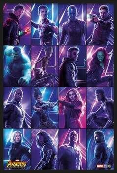 Uokvireni plakat Avengers: Infinity War - Heroes