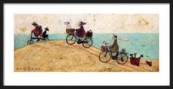 Uokvireni plakat Sam Toft - Electric Bike Ride