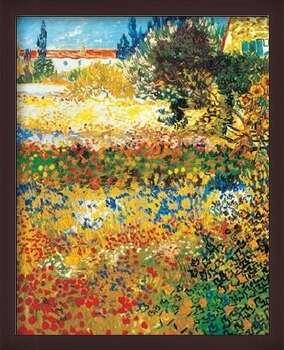 Uokvireni plakat Flowering garden, 1898