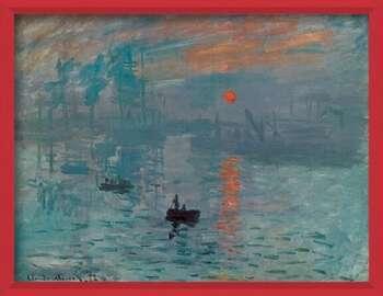 Uokvireni plakat Impression, Sunrise - Impression, soleil levant, 1872