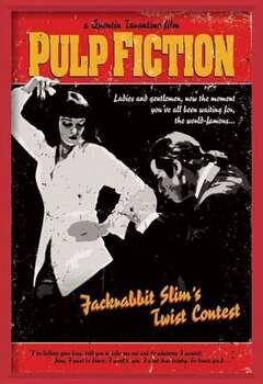 Uokvireni plakat Pulp Fiction - Twist Contest