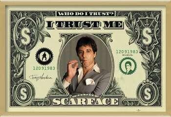 Uokvireni plakat SCARFACE - dollar