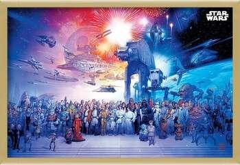 Uokvireni plakat Star Wars - Universe