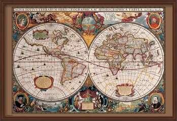 Uokvireni plakat World Map - 17th Century