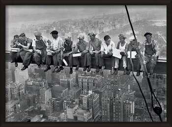 Uokvireni plakat Lunch on a skyscraper