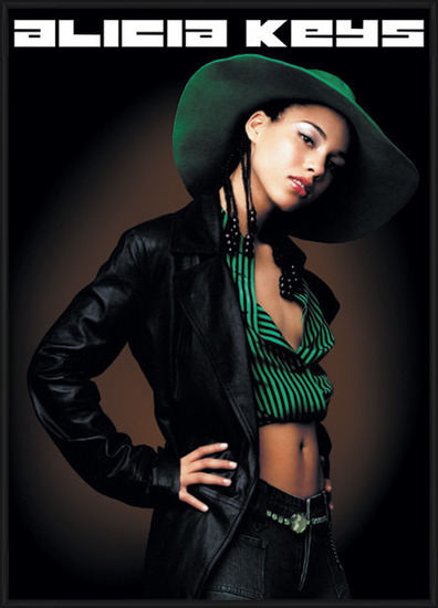 Alicia Keys - pose Poster