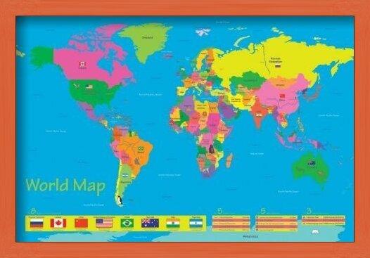 World map - population of children Poster