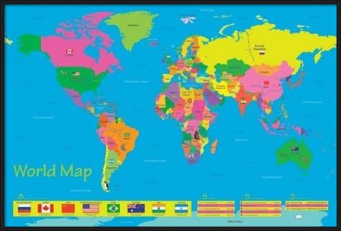 World map - population of children Poster