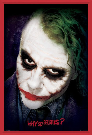 The Dark Knight: Le Chevalier noir - Joker Face Poster