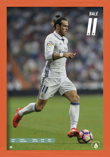 Real Madrid 2016/2017 - Gareth Bale Poster