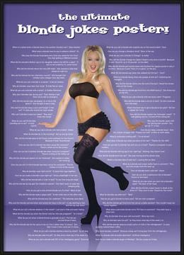 Blonde jokes Poster
