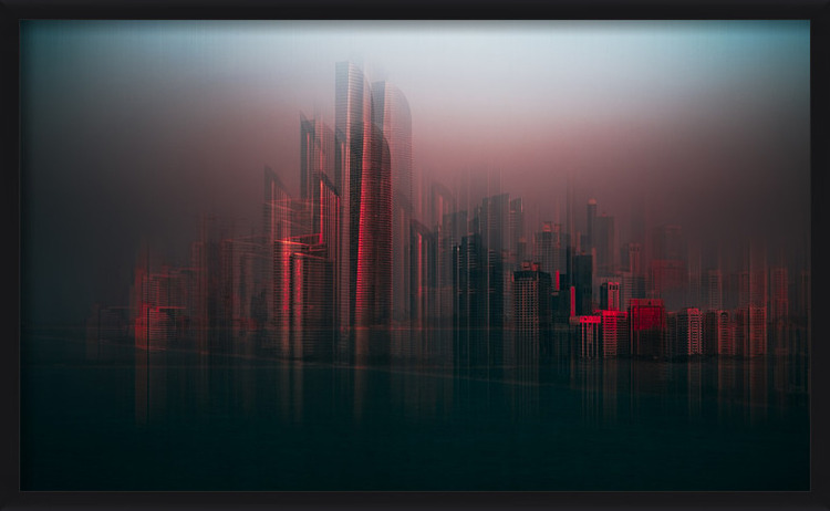 Umjetnička fotografija Abu Dhabi skyline