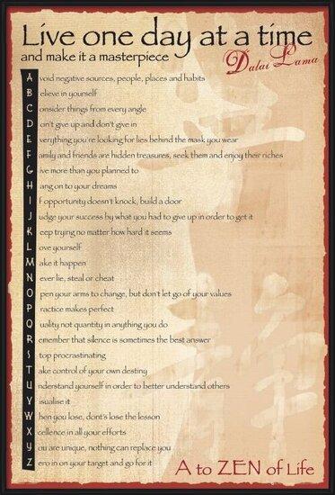 Dalai Lama - the balance Poster